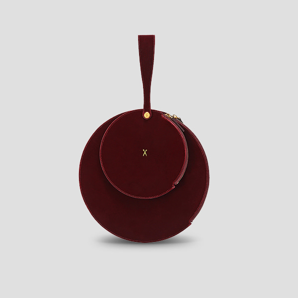 OZ 2 Round Clutch Velvet Red Eve Edition