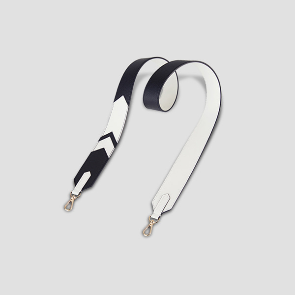 Playful leather Strap Rich Black/Off White