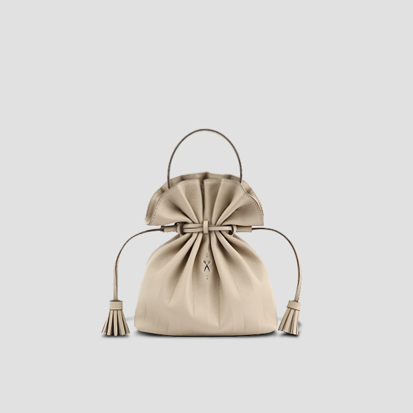 [김나영/문가영 착용]Lucky Pleats Crossbag Ecru Beige