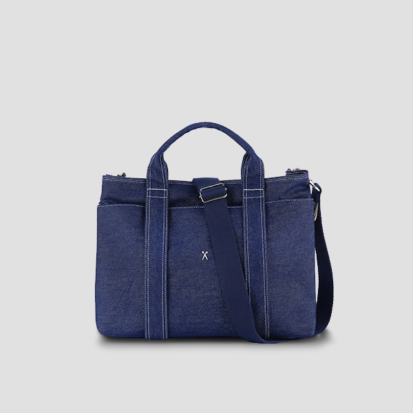[신소율 착용]Stacey Daytrip Tote Canvas M Denim