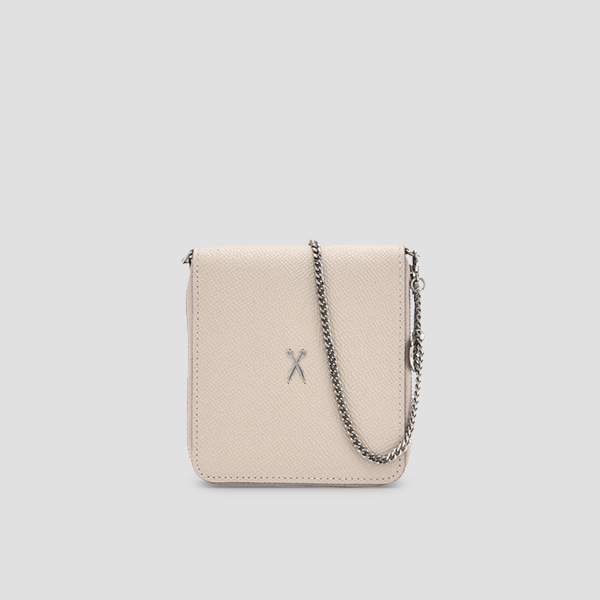 Easypass OZ Wallet Bolt With Chain Ecru Beige