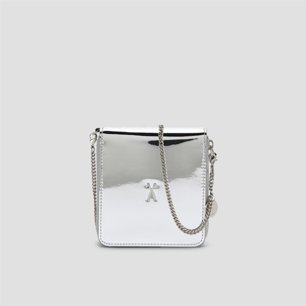 Easypass OZ Wallet Bolt With Chain Mirror Silver