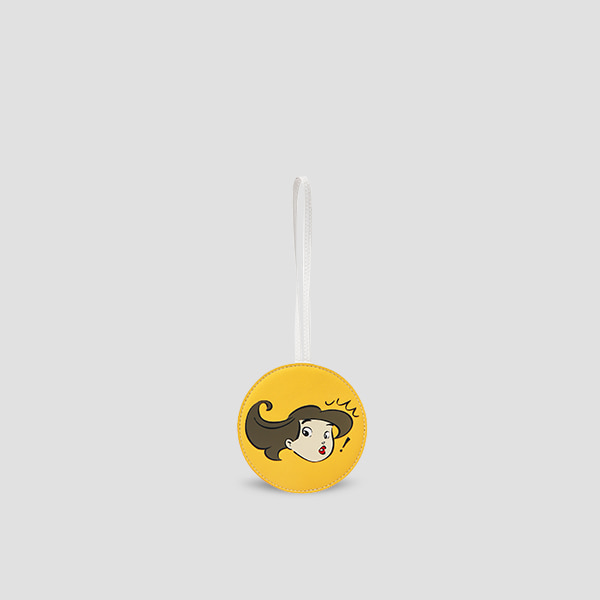 Character Leather Charm Yellow