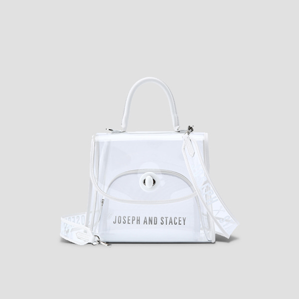 Joseph A Clear Bag Off White