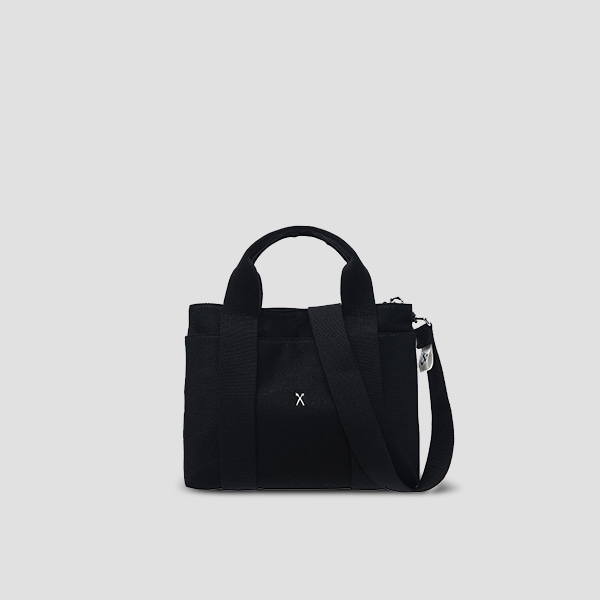 Stacey Daytrip Tote Canvas S Black(+Webbing Strap)