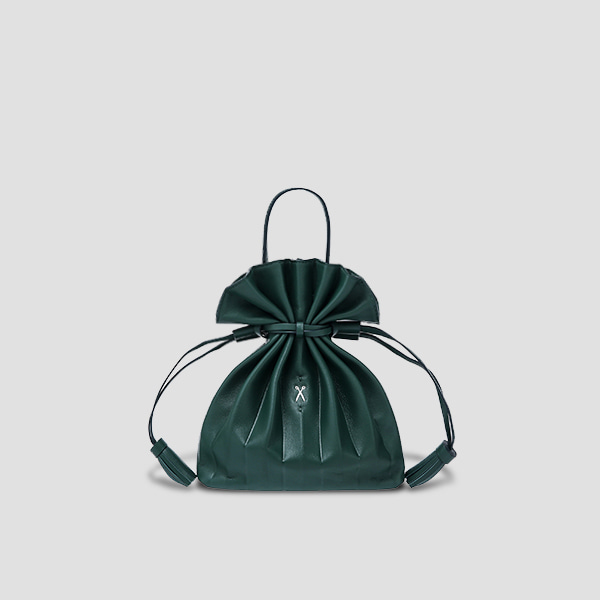 [Sold Out][강민경 착용]Lucky Pleats Crossbag Pine Green