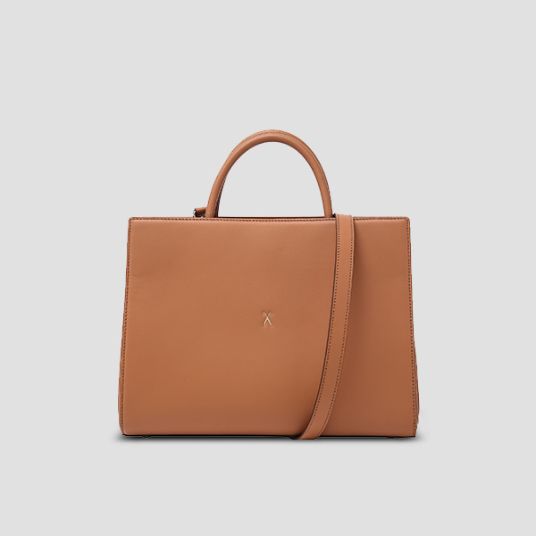 [박은빈 착용]  Lucky Pleats Tote L Pecan Brown