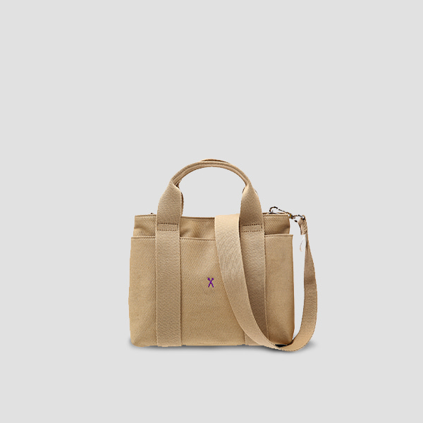 ※BESPOKE(자수)가능※Stacey Daytrip Tote Canvas S Beige