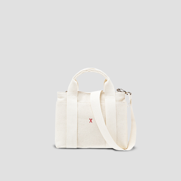 ※BESPOKE(자수)가능※[악뮤 수현 착용]Stacey Daytrip Tote Canvas S Ivory