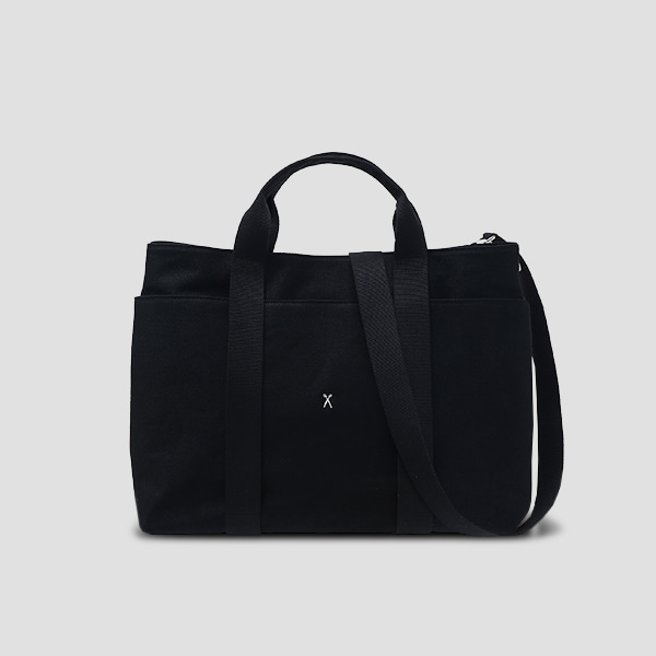 [예약배송 12/7]※BESPOKE(자수)가능※Stacey Daytrip Tote Canvas L Black