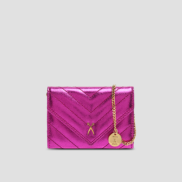 [11/20 예약배송]Easypass Amante Card Wallet Eve EditionBubble Pink(+Chain Strap)