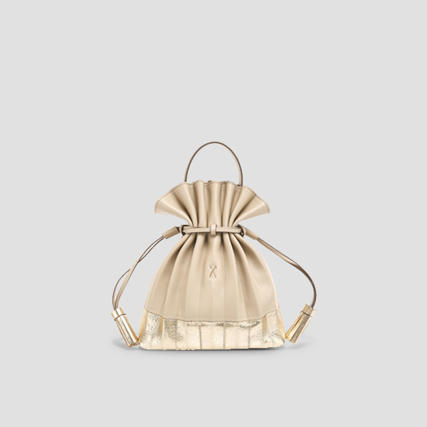 [11/20 예약배송]Lucky Pleats Crossbag Eve EditionEcru Beige