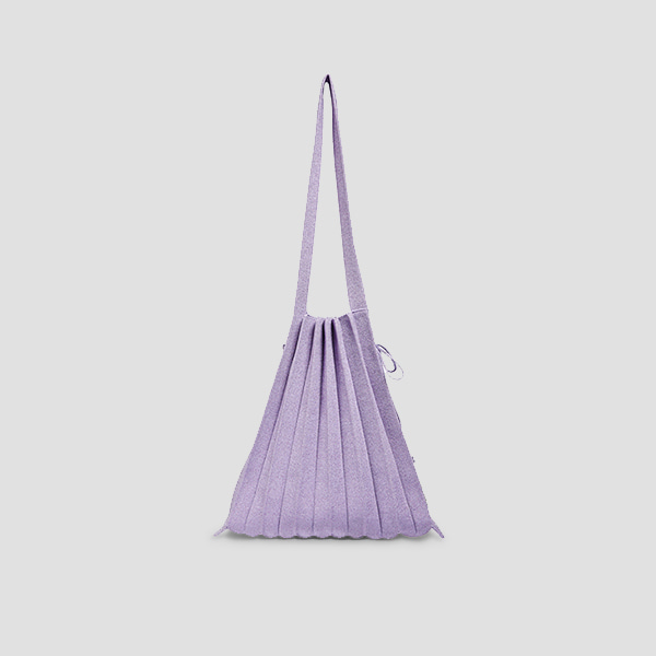 Lucky Pleats Knit M Starry Lilac