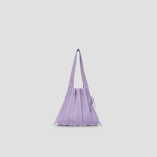 Lucky Pleats Knit S Starry Lilac