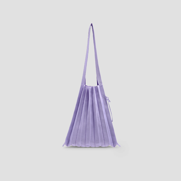 Lucky Pleats Knit M Lavender