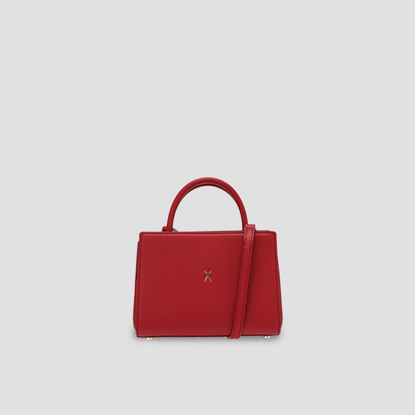 [스타 착용]Lucky Pleats Tote S Lucky Red