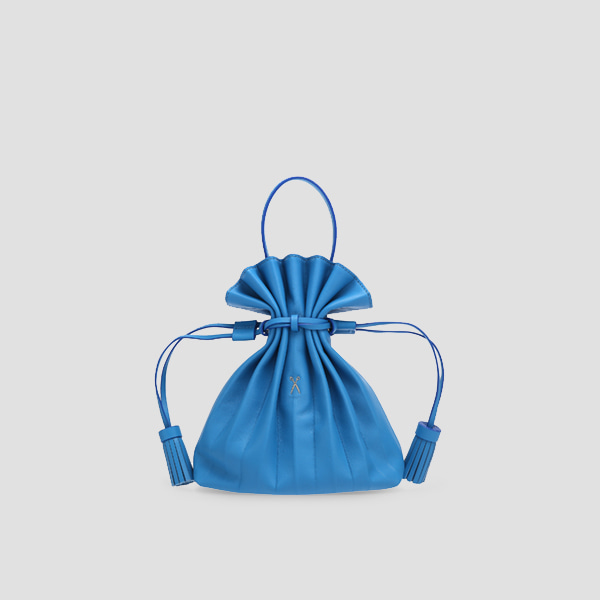 Lucky Pleats Crossbag Hockney Blue