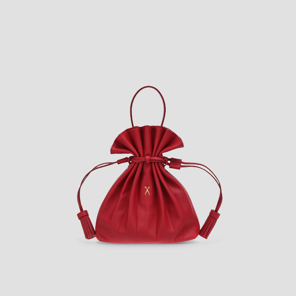 [스타 착용]Lucky Pleats Crossbag Lucky Red