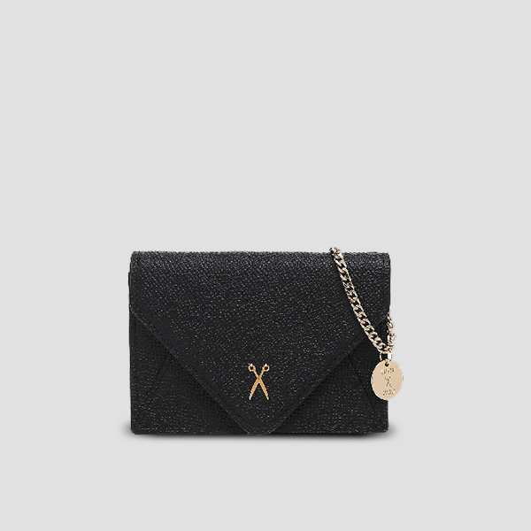 [5/28 발송예정]Easypass Amante Card Wallet with Chain Rich Black