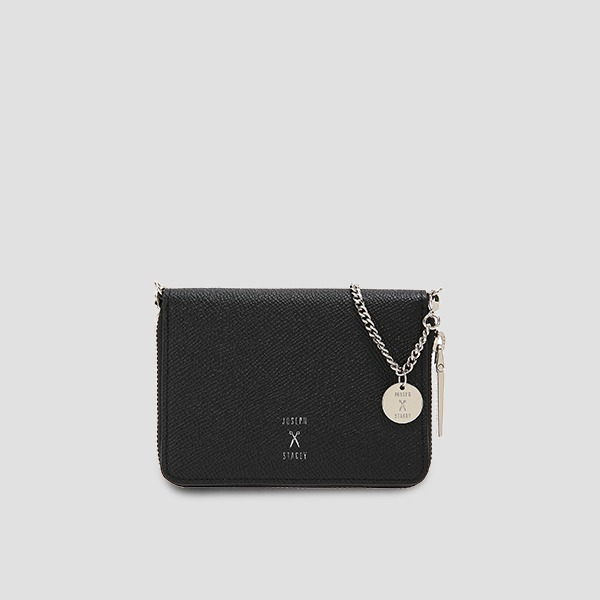 Easypass OZ Card Wallet With Chain Rich Black