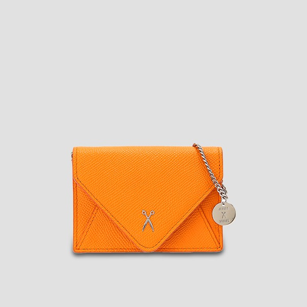 Easypass Amante Card Wallet With Chain Electric Orange