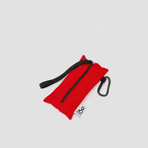 [3/2 예약배송]Lucky Pleats Pouch Slim Chroma Red
