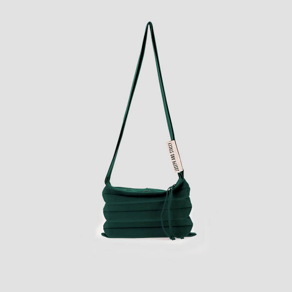 Lucky Pleats Knit Crossbag Deep Forest