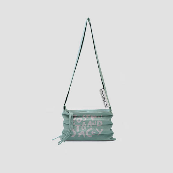 [3/23 예약배송]Lucky Pleats Knit Crossbag Graffiti Basil