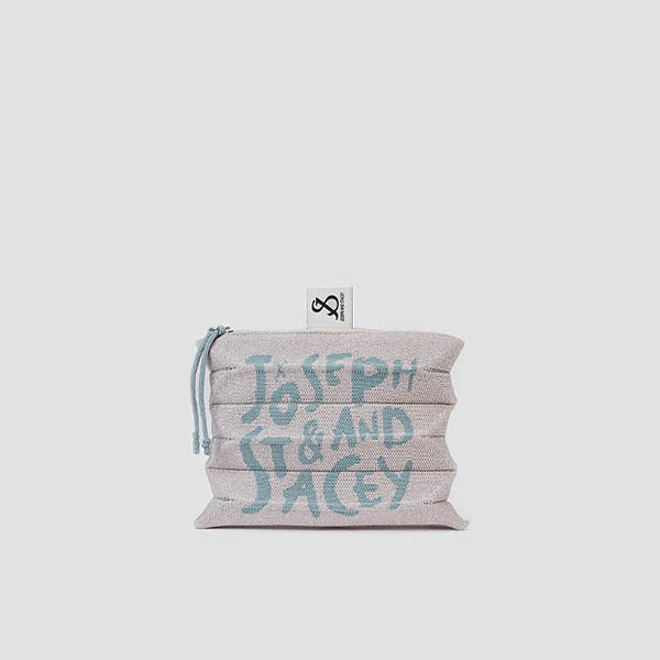 [3/5 예약배송]Lucky Pleats Pouch Graffiti S Starry Cream