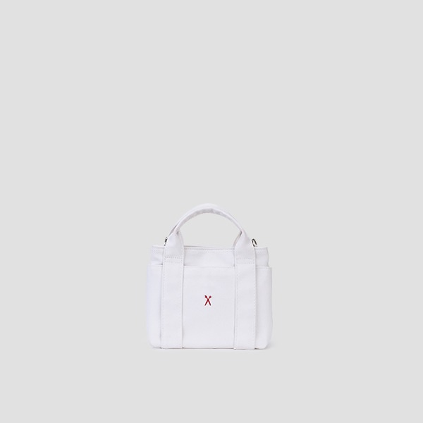 [3/3 예약배송]Stacey Daytrip Tote Canvas Mini Coated Ivory