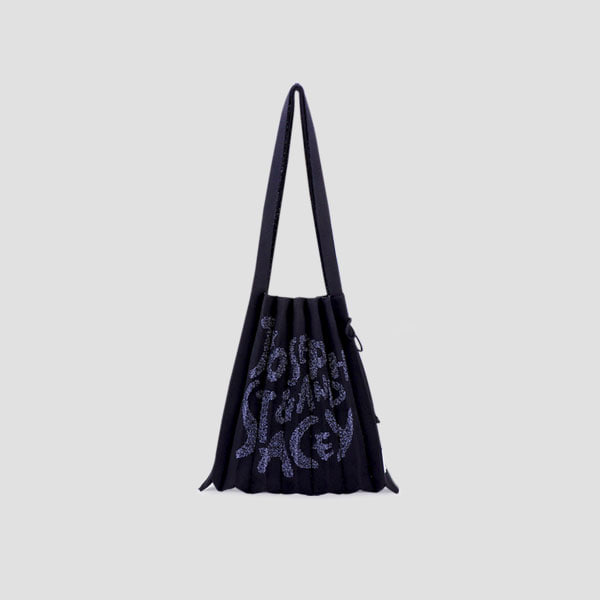 [3/2 예약배송]Lucky Pleats Knit Graffiti M Rich Black